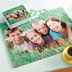 Personalized 110 Piece Photo Puzzle Gift Tin