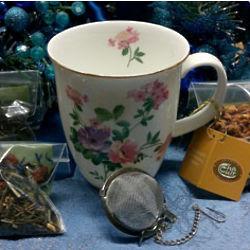 Primrose Pinks Tea Cup and Sampler Gift Set