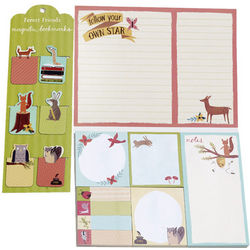 Forest Friends Bookmarks and Sticky Notes