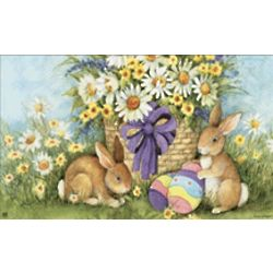 MatMates Easter Bunnies Door Mat