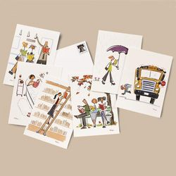 Nishan Akgulian's Whimsical Artwork Note Cards