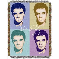 Pop Elvis Tapestry Throw