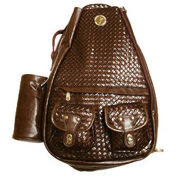 Small Mocha Brown Tennis Bag