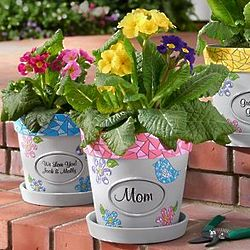 Personalized Mosaic Flower Pot
