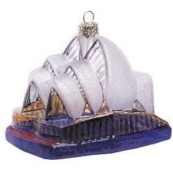 Sydney Opera House Blown Glass Christmas Ornament