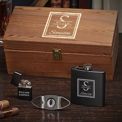The Cigar Essentials Oakhill Personalized Boxed Gift Set