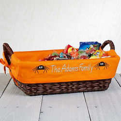 Embroidered Halloween Candy Basket Liner