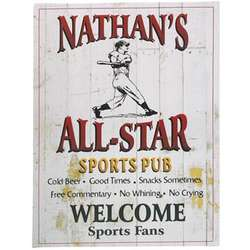 Personalized All-Star Sports Pub Canvas