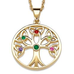 Family Birthstone Tree of Life Pendant