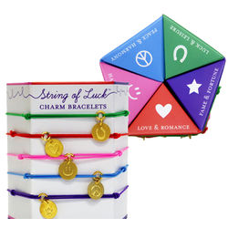 String of Luck Charm Bracelets