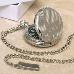 Silver-Plated Men's Pocket Watch