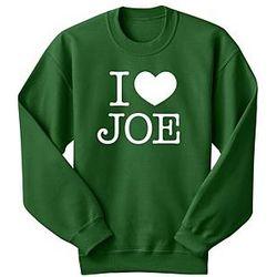 Personalized I Heart Sweatshirt