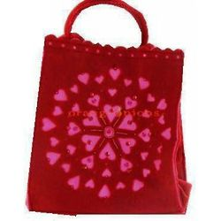 Red Fabric Heart Tote