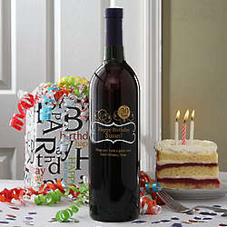 Personalized Birthday Balloons Wine Bottle