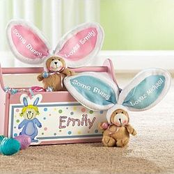 Personalized Zippered Easter Egg Teddy Bears