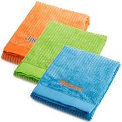Bright Ribbed Microfiber Blanket