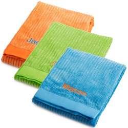 Bright Ribbed Microfiber Blanket