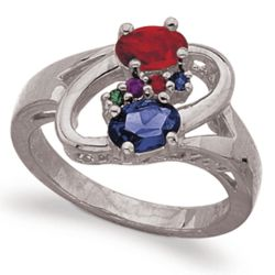 Parents and Children Birthstone Mother's Ring