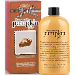 Philosophy Shampoo Shower Gel and Bubble Bath in Pumpkin Pie