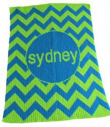 Chevron Design Stroller Baby Blanket