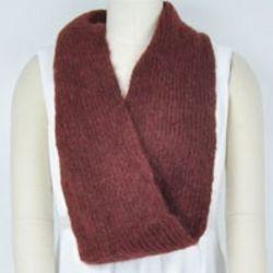 Fuzzy Wool Infinity Scarf