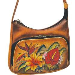 Anuschka Hand Painted Leather Crossbody Bag