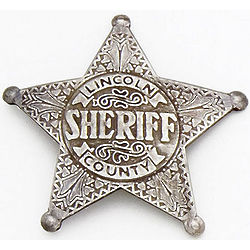 Reproduction Old West Sherrif's Badge