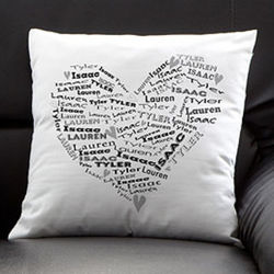 Personalized Her Heart of Love Throw Pillow