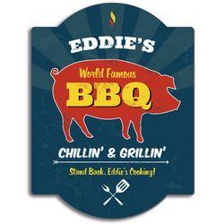 World Famous BBQ Custom Wood Sign