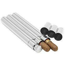 Monte Carlo Stainless Steel Flask and Cigar Tubes