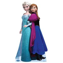 Frozen Elsa and Anna Cardboard Cutout Standee