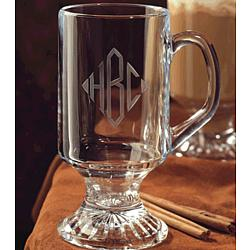 Personalized 10 oz. Crystal Irish Coffee Mug Set