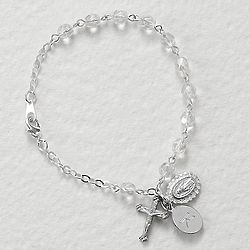 Commemorative Crystal Rosary Bracelet