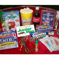 Christmas Movie Night Gift Basket with DVD