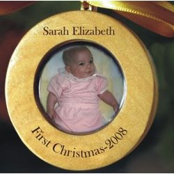 Personalized Photo Baby's 1st Christmas Ornament