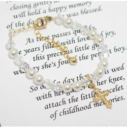 Gold Baptism Bracelet
