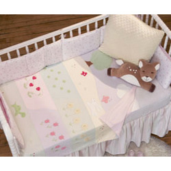 In the Garden Mural Baby Blanket