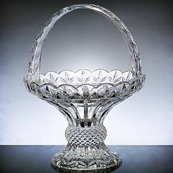 Elegant Lead Crystal Basket