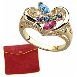 Marquise Family Birthstone Ring