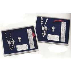 Personalized Rosary, Pin & Bookmark Set