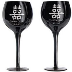 Personalized Chinese Double Happiness Goblets