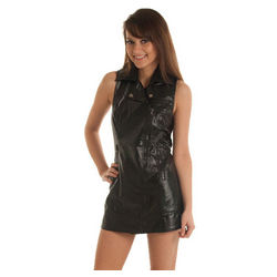 Punk Chic Pleather Micro Mini Dress