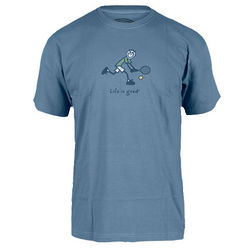 Men's Life Is Good Two Hand Backhand Crusher Tee