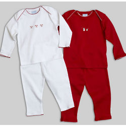 Hand Embroidered Layette Pajama Set