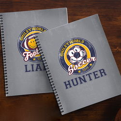 Kid's Personalized Smiley Sports Notebook