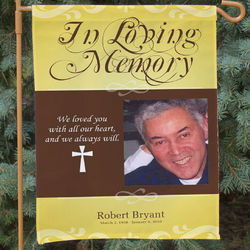 Personalized In Loving Memory Photo Memorial Flag
