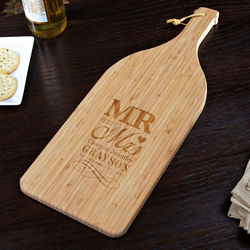 Personalized Mr. and Mrs. Bamboo Cutting Board