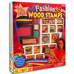 Kid's Fashion Wood Stamps Stationery Kit