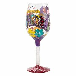 February Birthday Wine Glass