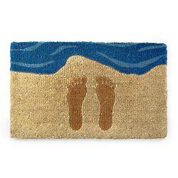 Footprints in the Sand Doormat
